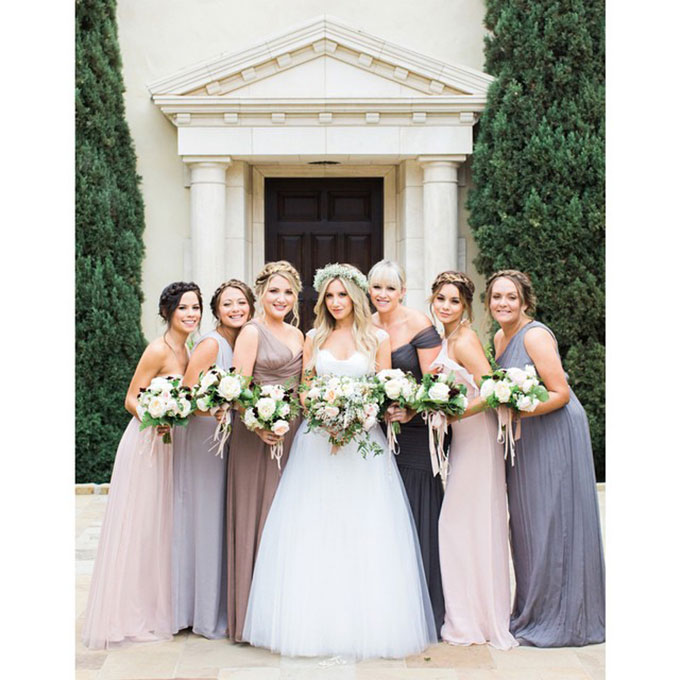 When you ask TV's Carrie Bradshaw to be in your wedding, you have to expect that she might upstage you a bit. Imagine how surprised we were when we saw  photos of SJP as one of her assistant Melinda Relyea's bridesmaids , looking totally demure. The fashion icon looked beautiful and low-key in her strapless, orchid-hued chiffon dress.  Photo: Colleen O'Neill via  Instagram