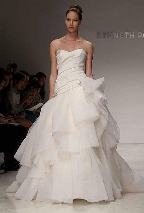Kenneth Pool   Gown by  Kenneth Pool     Browse more Kenneth Pool wedding dresses.   Photo: Robert Mitra