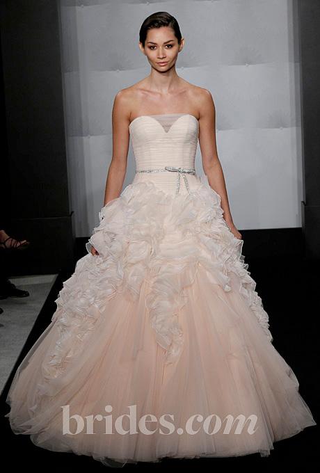 Mark Zunino   Gown by  Mark Zunino     Browse more Mark Zunino wedding dresses.   Photo: John Aquino
