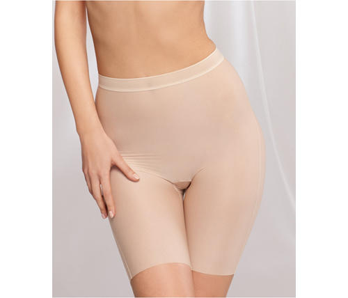The essential: Target the problem area with shapewear that falls just above the knees. The key is finding a pair that's tight enough to firm up any possible wobbly bits and give your silhouette a smooth finish—without giving you a muffin top.  Wacoal Leg Smooth Complexion Long Leg Shaper, $40, Macys.com