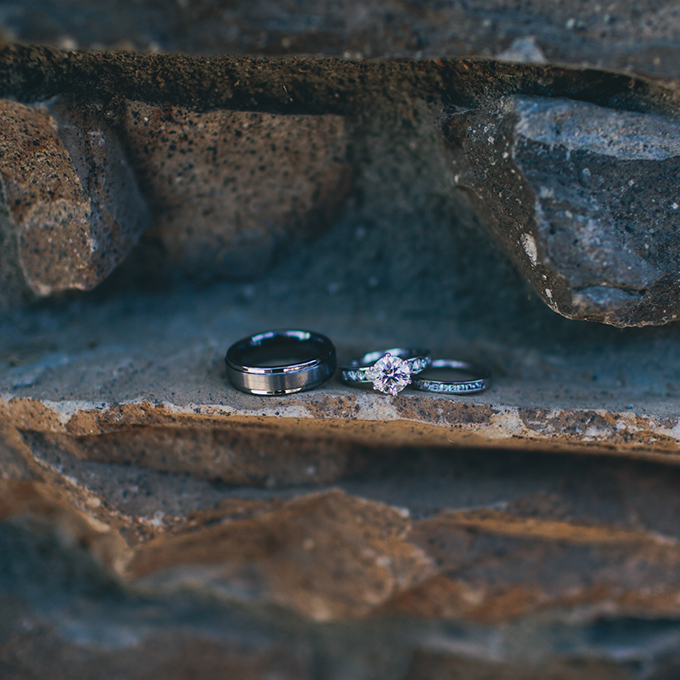 A neutral-hued stone backdrop lets your rings truly shine.  Photo: Lindsey Gomes