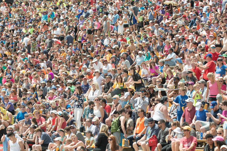 When 50k show up for a 10k. Full house at the University of Colorado's Folsom Field.