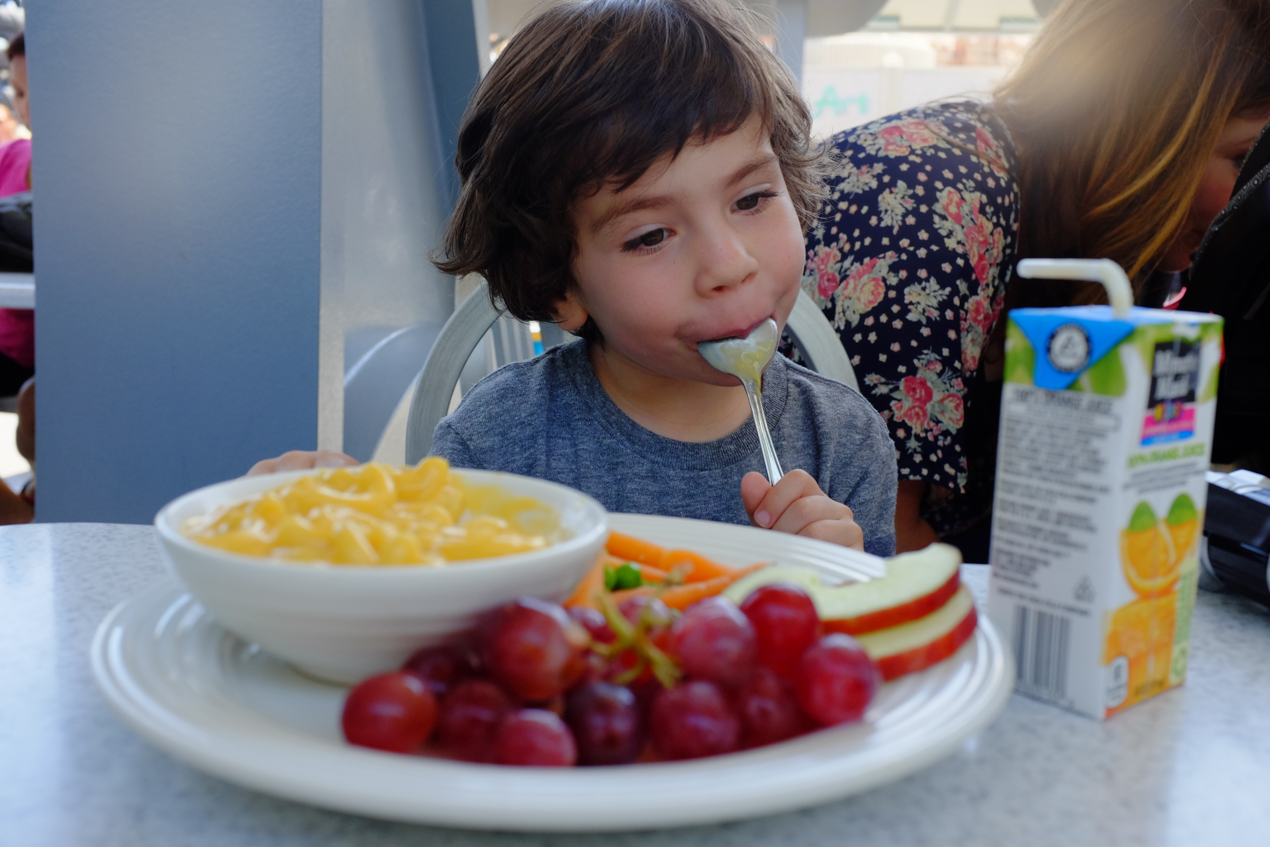 First things first: Feed the kids. Jack would need all the energy he could get. Flo's in Cars Land at California Adventure is THE place to eat.