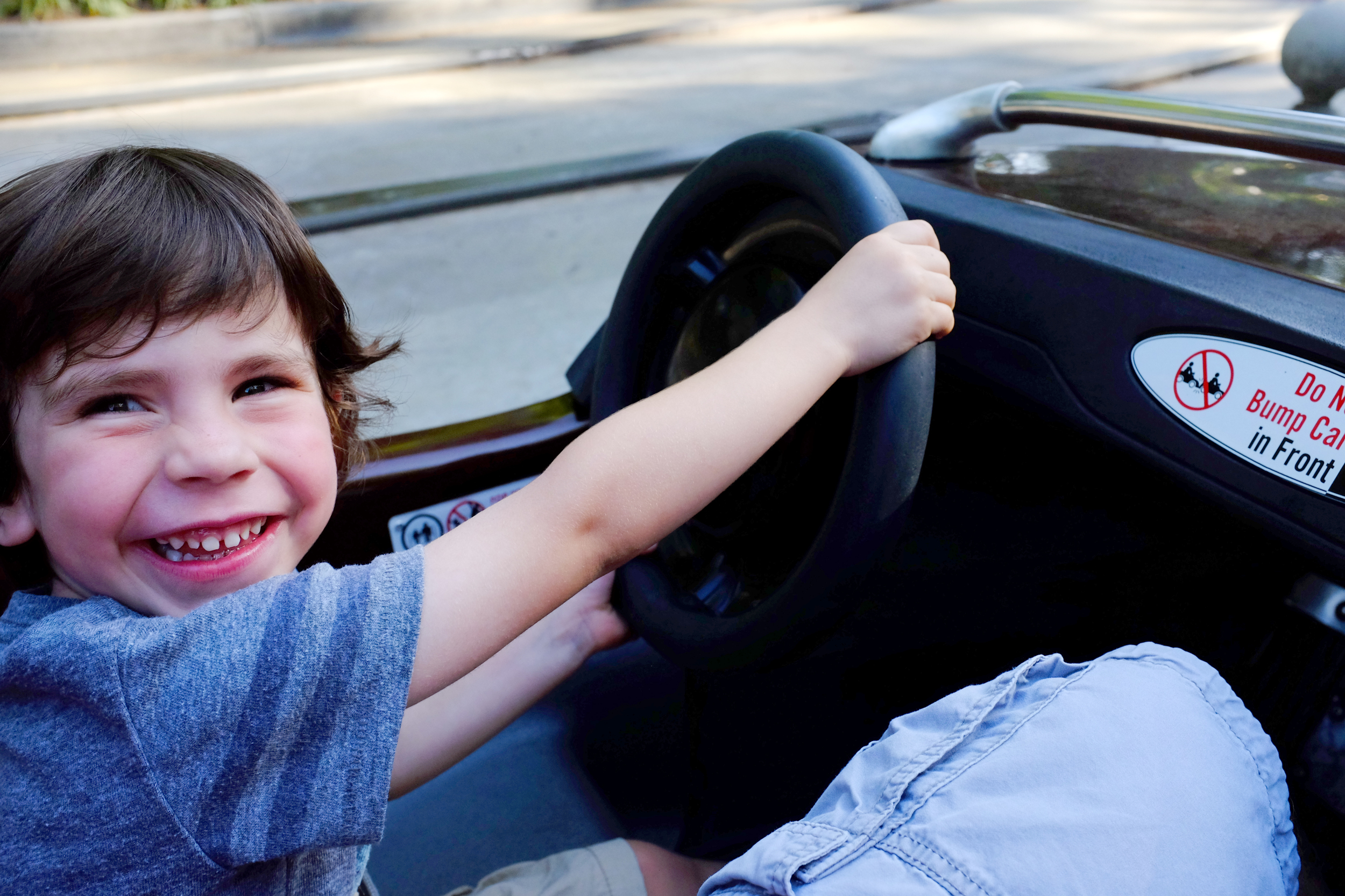 All Jack wants to do when he grows up is drive, thus Autopia one of his favorite rides