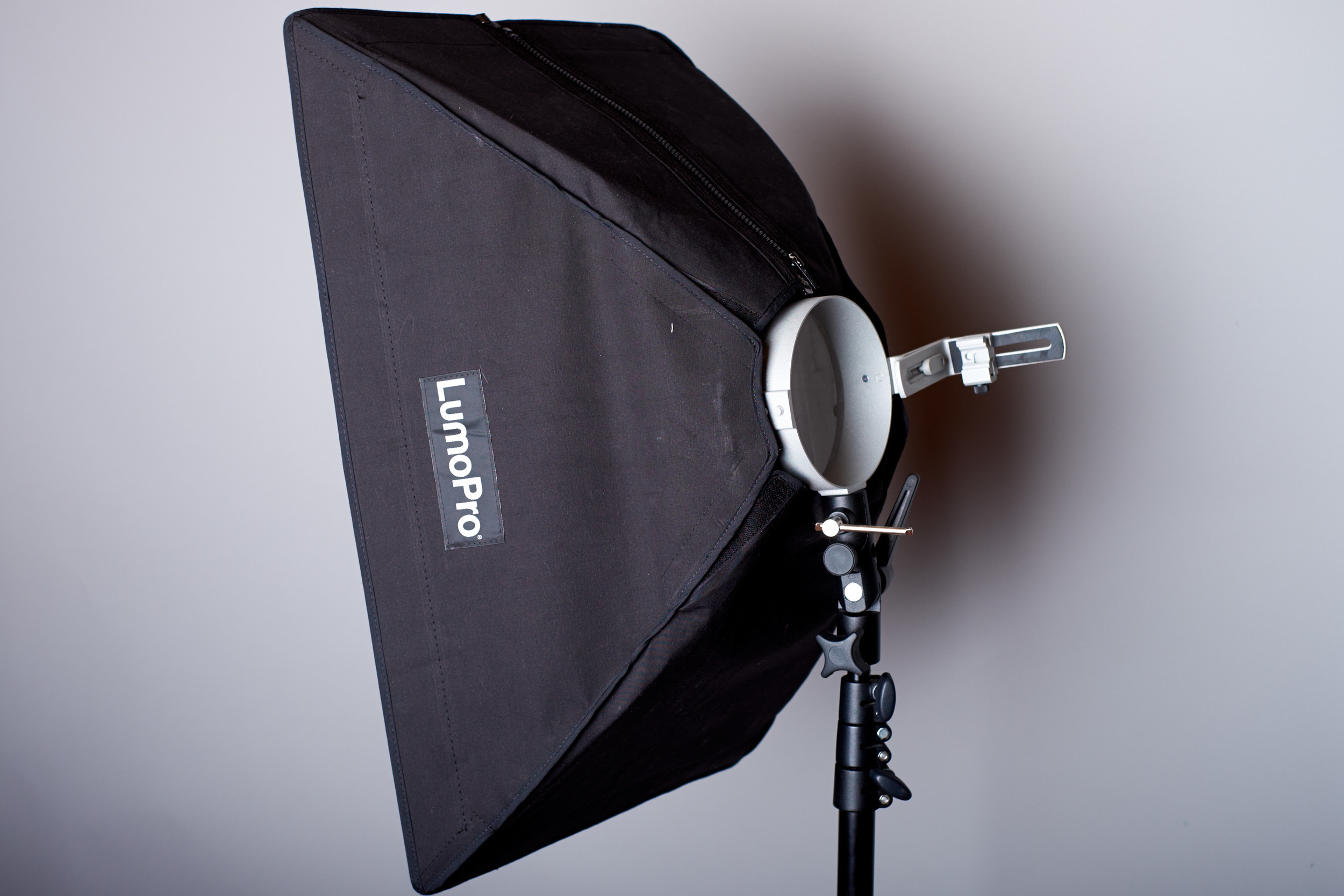 You may also need a light modifier, if you so desire. Shown here is the LumoPro Small Softbox.