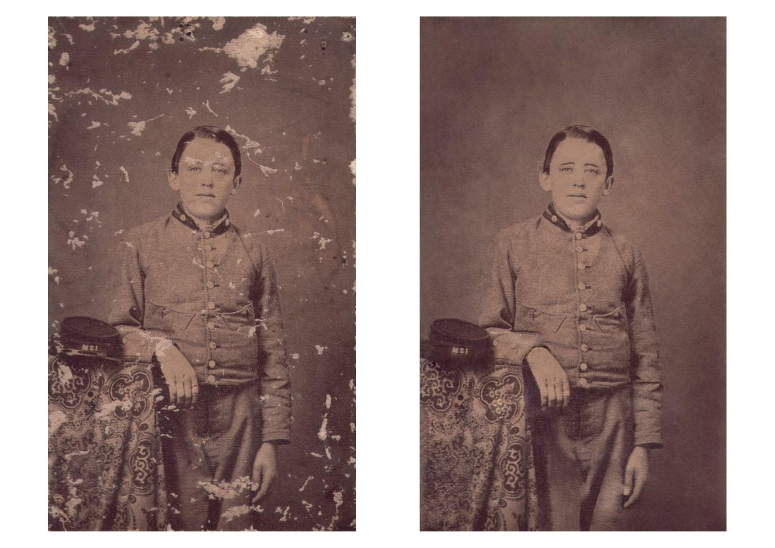Title: Retouching Family Photo Year: 2012 Medium:Archival Pigment Print