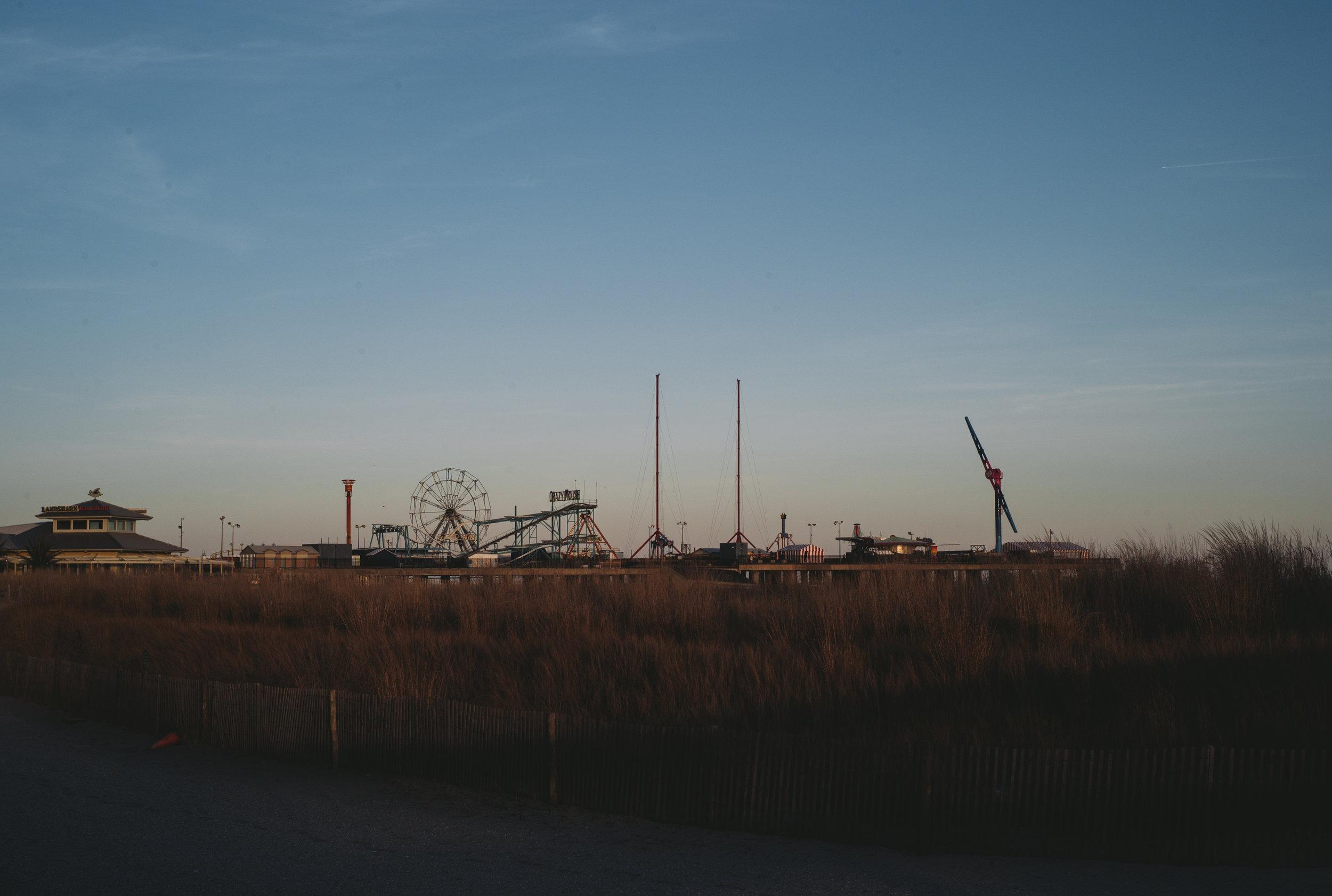 Title: Closed down Steel Pier Location:Atlantic City, New Jersey Year: 2017 Medium:Chromogenic Color Print