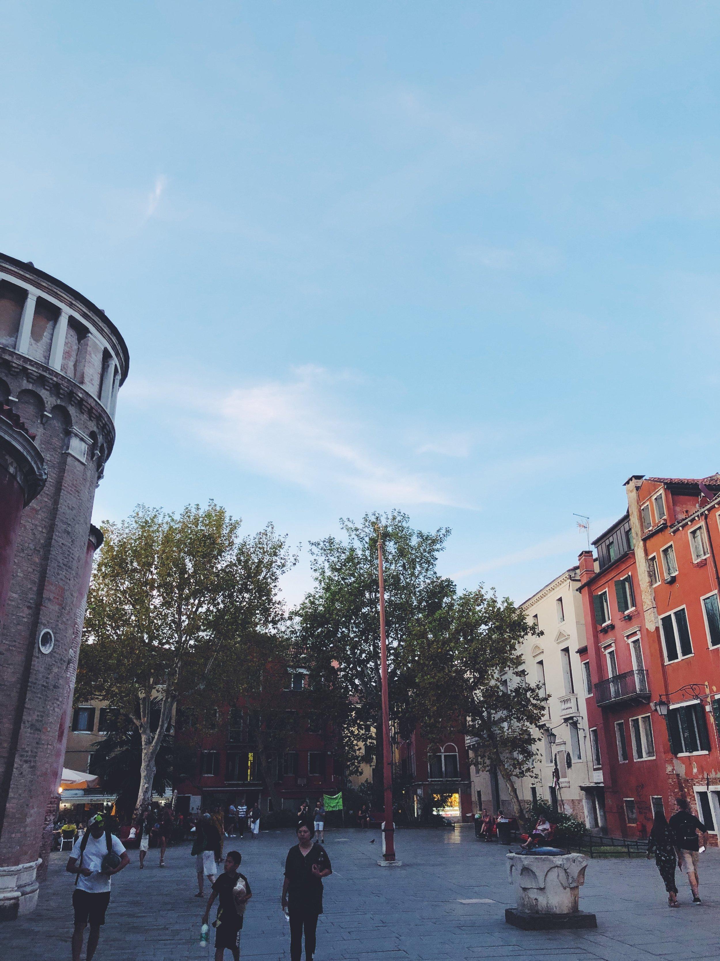 A Square in the Venice District of Santa Croce