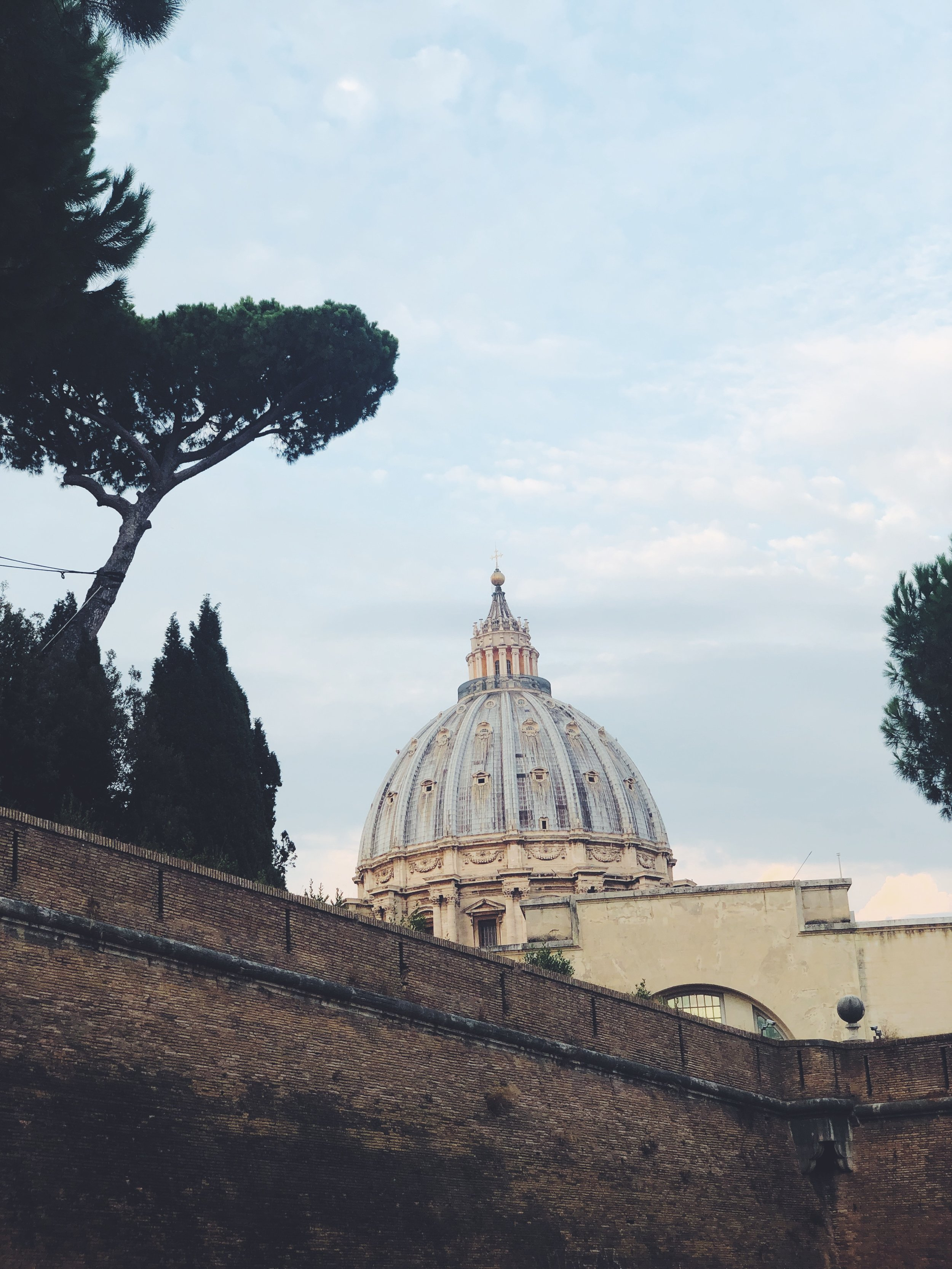 St Peter's Basilica from Outside the Walls of the Vatican