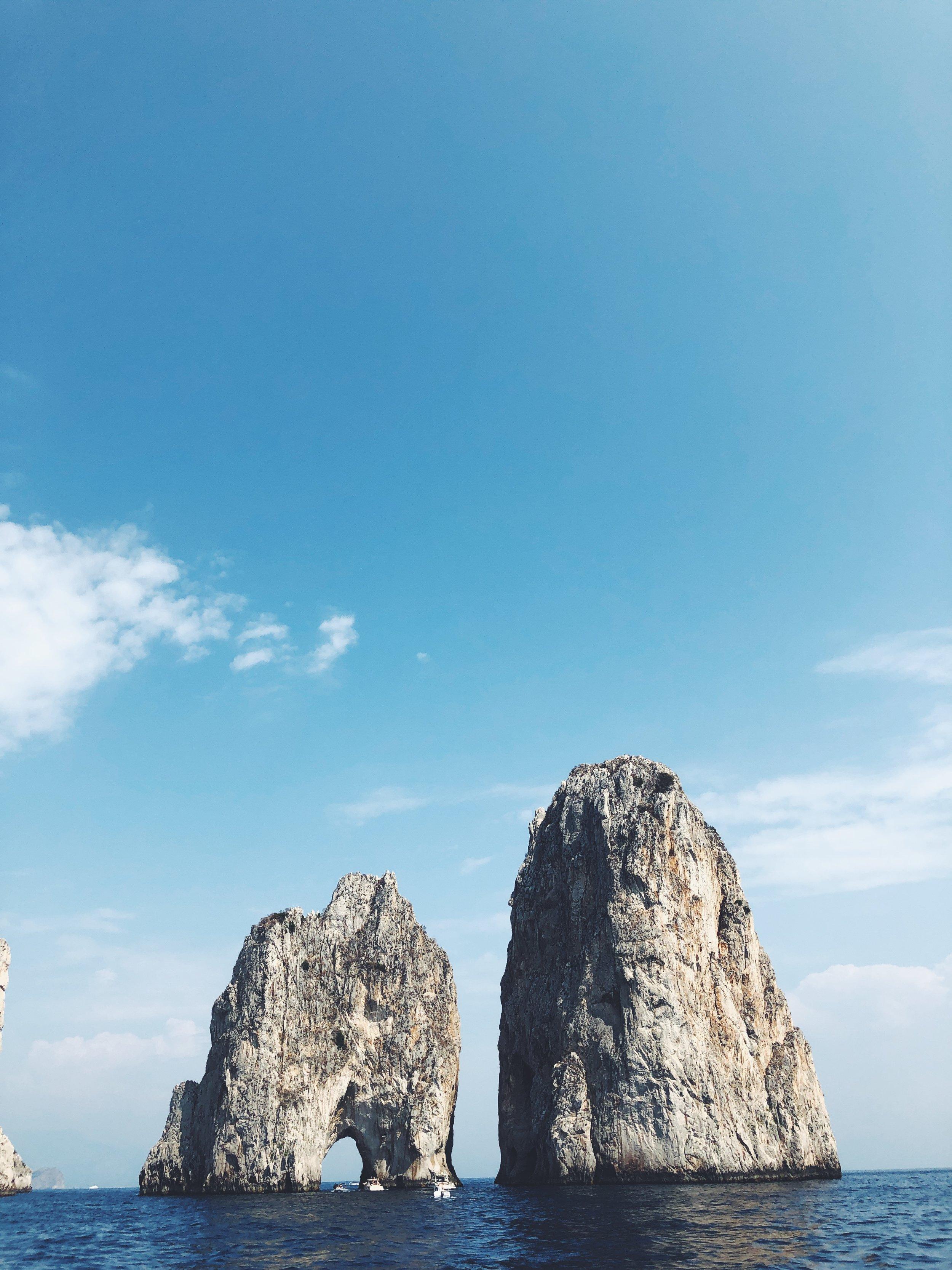 The Capri Faraglioni!