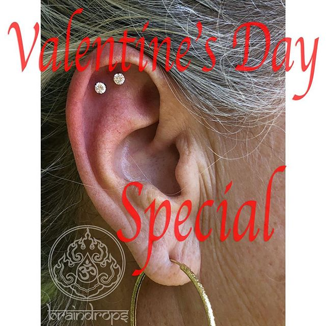 Valentine's Day should be full of love and we want to add to the love, so we are offering partner piercings. If you and a partner come get pierced we will waive one of the piercing fees!! . . . . . . . #ValentinesDay #lovers #braindrops #piercings #sanfrancisco #haightstreet #california #braindropspiercing #sf #lovediscounts