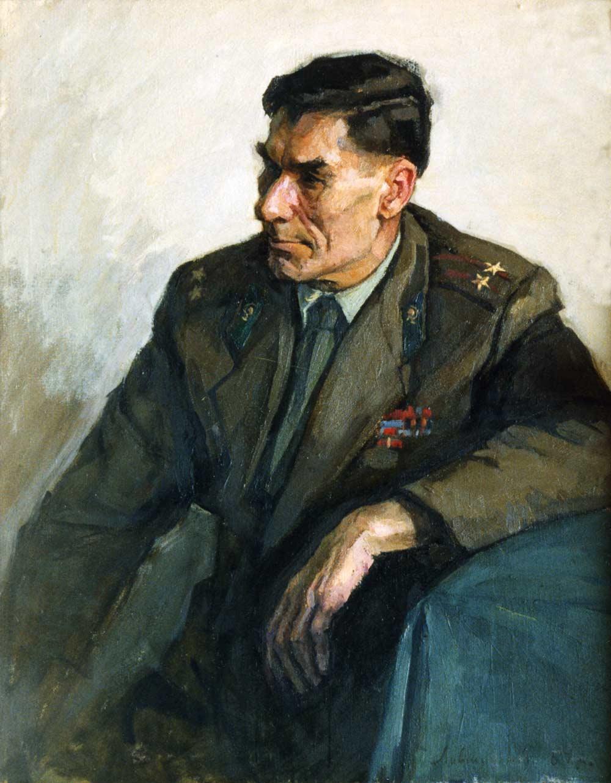 Portrait of writer A. A. Aleshko