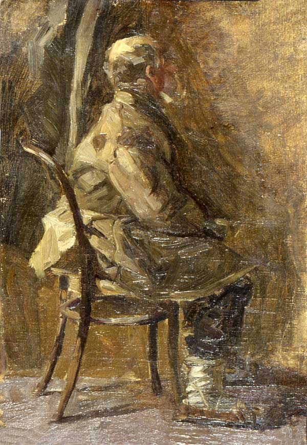 Old peasant. Study for Composition Sverdlov