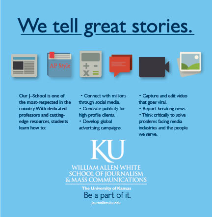 Ad for the J-school that appeared in the University Daily Kansan