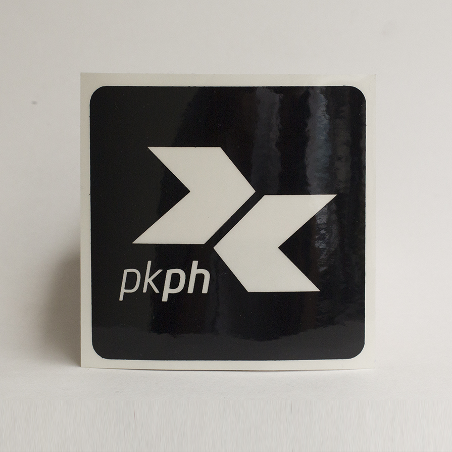 Every PKPH White Classic Shirt is inclusive of a FREE outdoor or indoor PKPH insignia sticker.