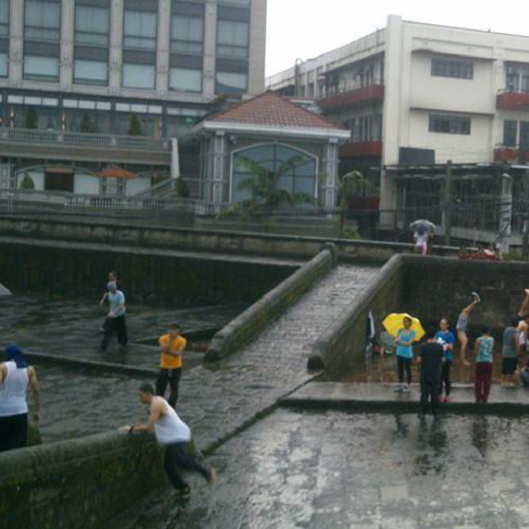 In one of #PKPHBansay training sessions in Intramuros, Manila. It was raining, wet and cold, but the love for movement has no limits.
