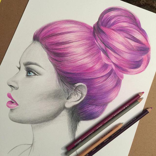 Pink hair colored pencil.jpg