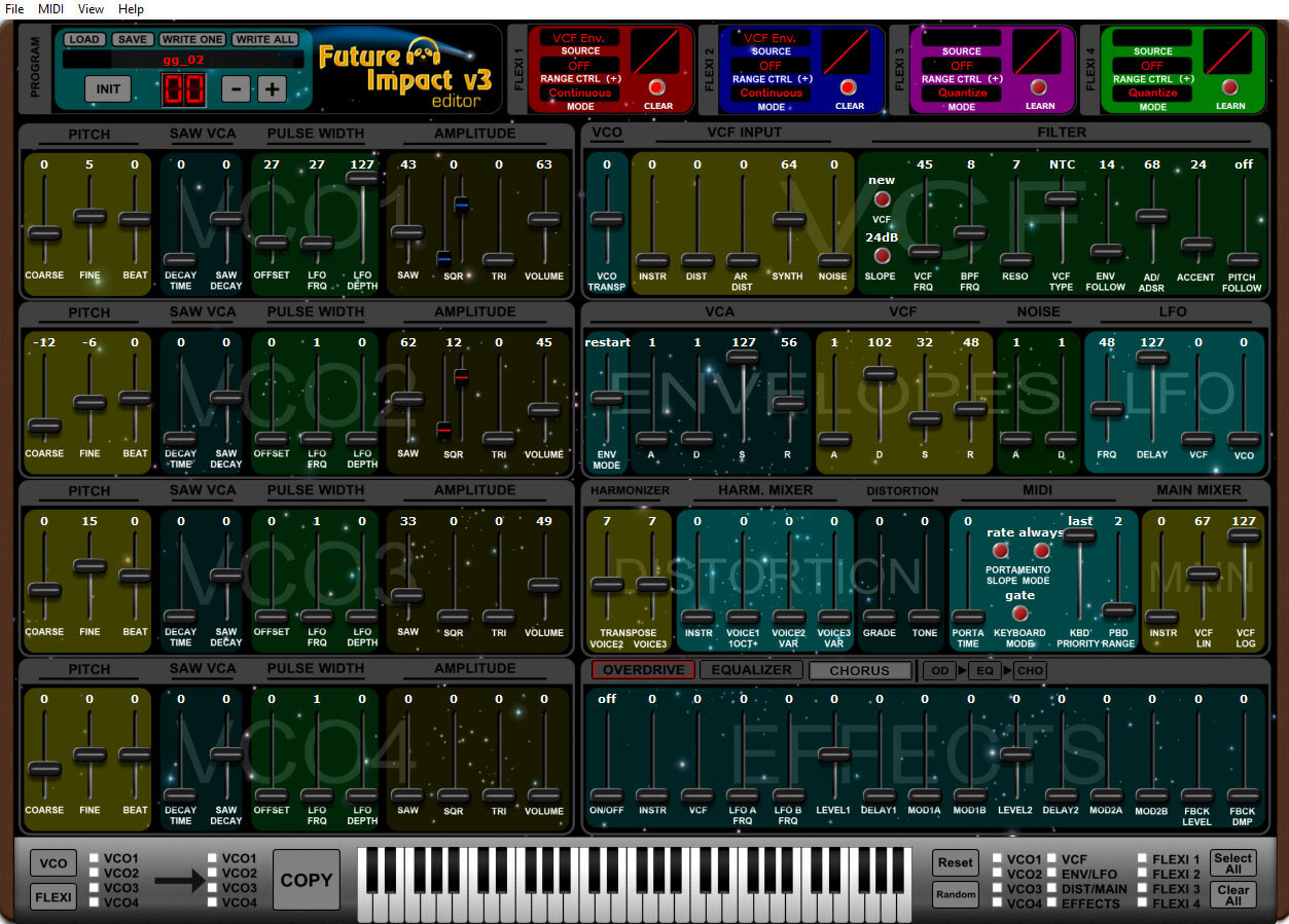 Screenshot of the sound editor software (now runs on Windows and Mac OS X)
