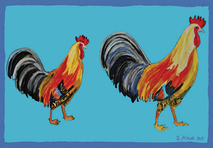 Two Roosters Placemat