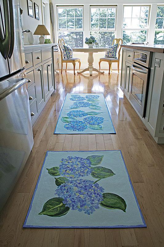 Hydrangea Rug & Runner, Kitchen