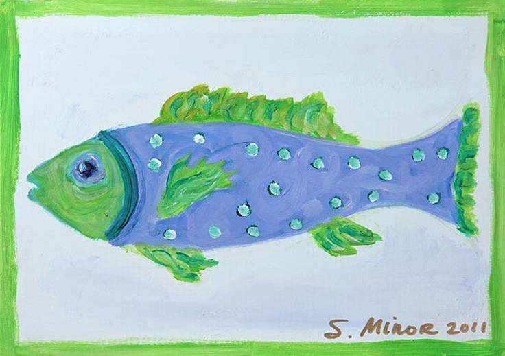 Blue-Green Fish Placemat