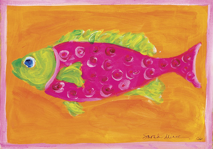 Pink Swirl Fish Placemat