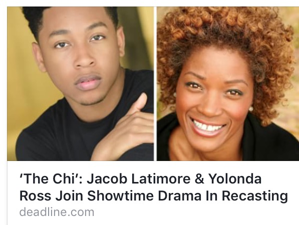 "Joining the case of ""The Chi"" on Showtime!"