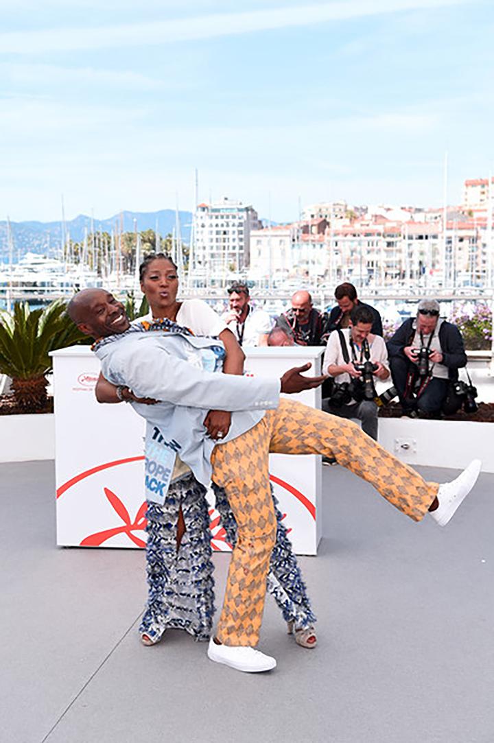 """Yolonda and Rob Morgan, """"Bull"""" photocall at Cannes 2019."""
