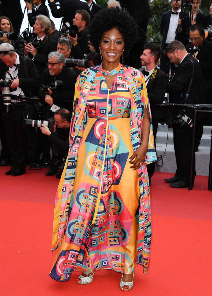 Yolonda on the red carpet at the 72nd Annual Cannes Film Festival (2019).