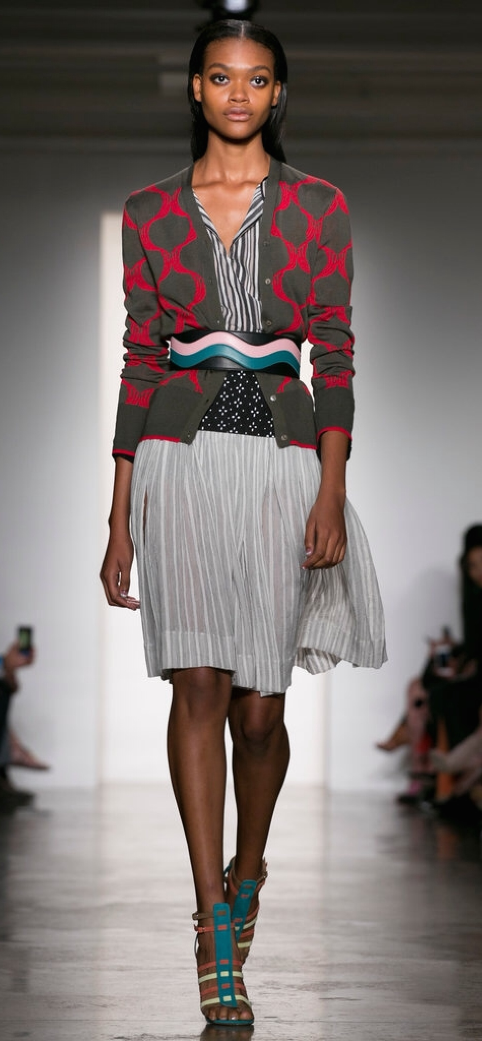 Sophie Theallet used a lightweight patterned fabric to give the illusion of transparency.