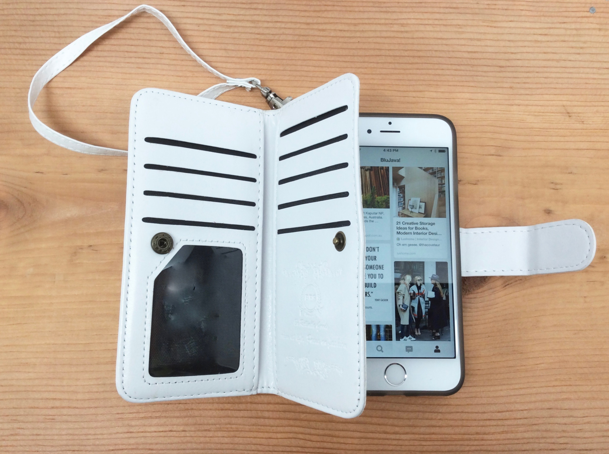 Genuine Leather iPhone 6 wallet with Wristlet Band (Feb. 16)