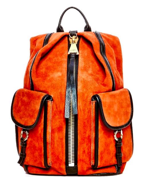 Suede & Leather Mini Backpack from Luxury Bag Designer Aimee Kestenberg