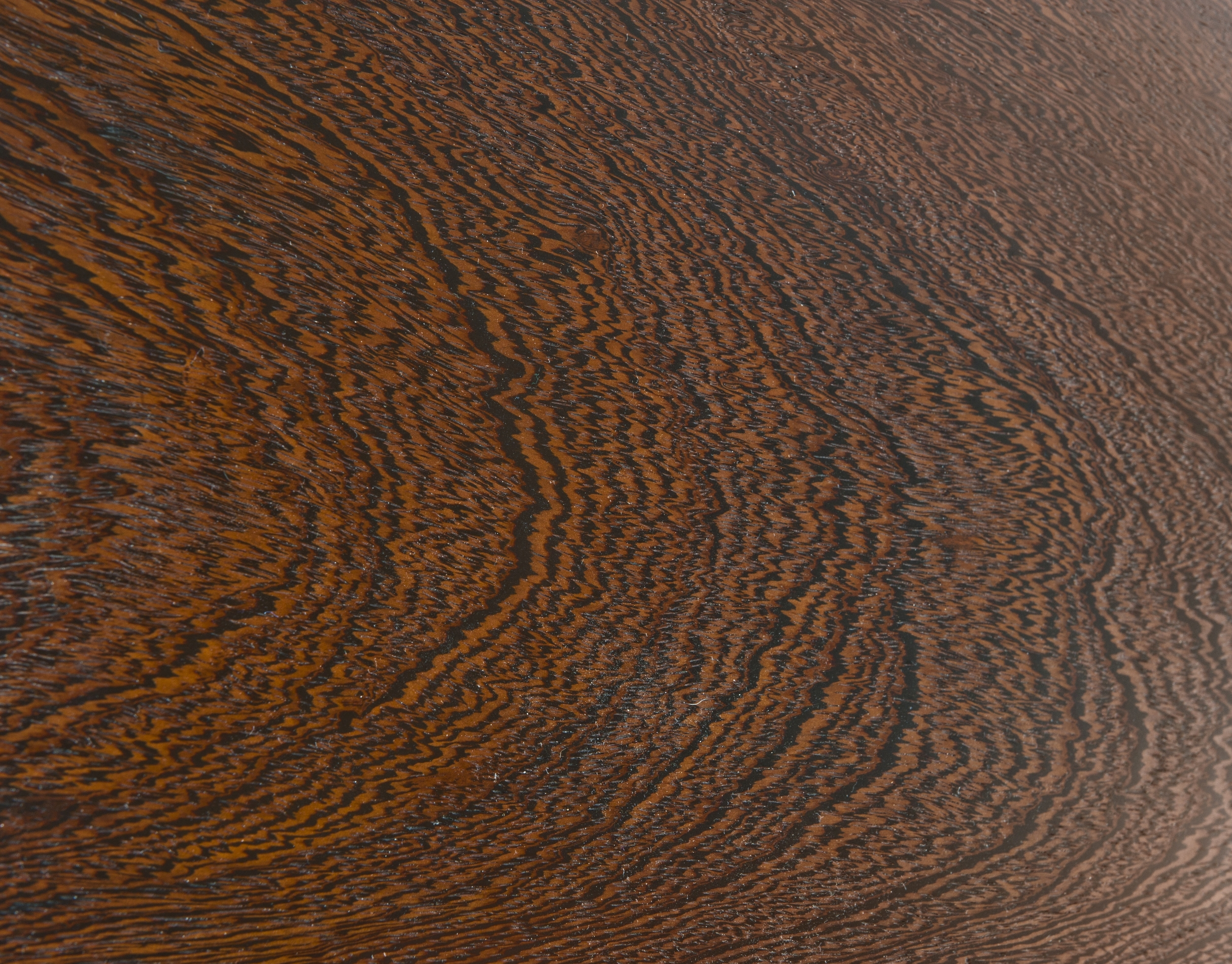 A single board of Wenge, an African hardwood, rarely found in the  dimensions of this design