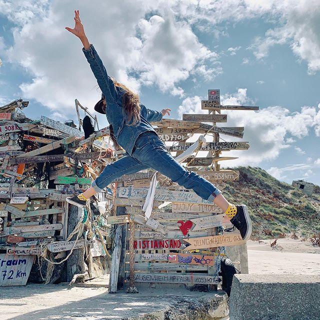 Jump! #beachart #denmark #jump #girl #wood