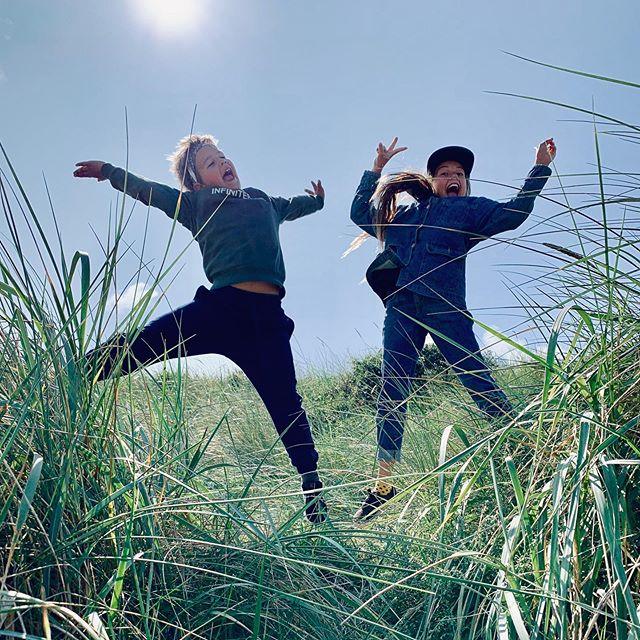 More jumping 🙃🙂 #holidayfun #jumping #løkken #denmark