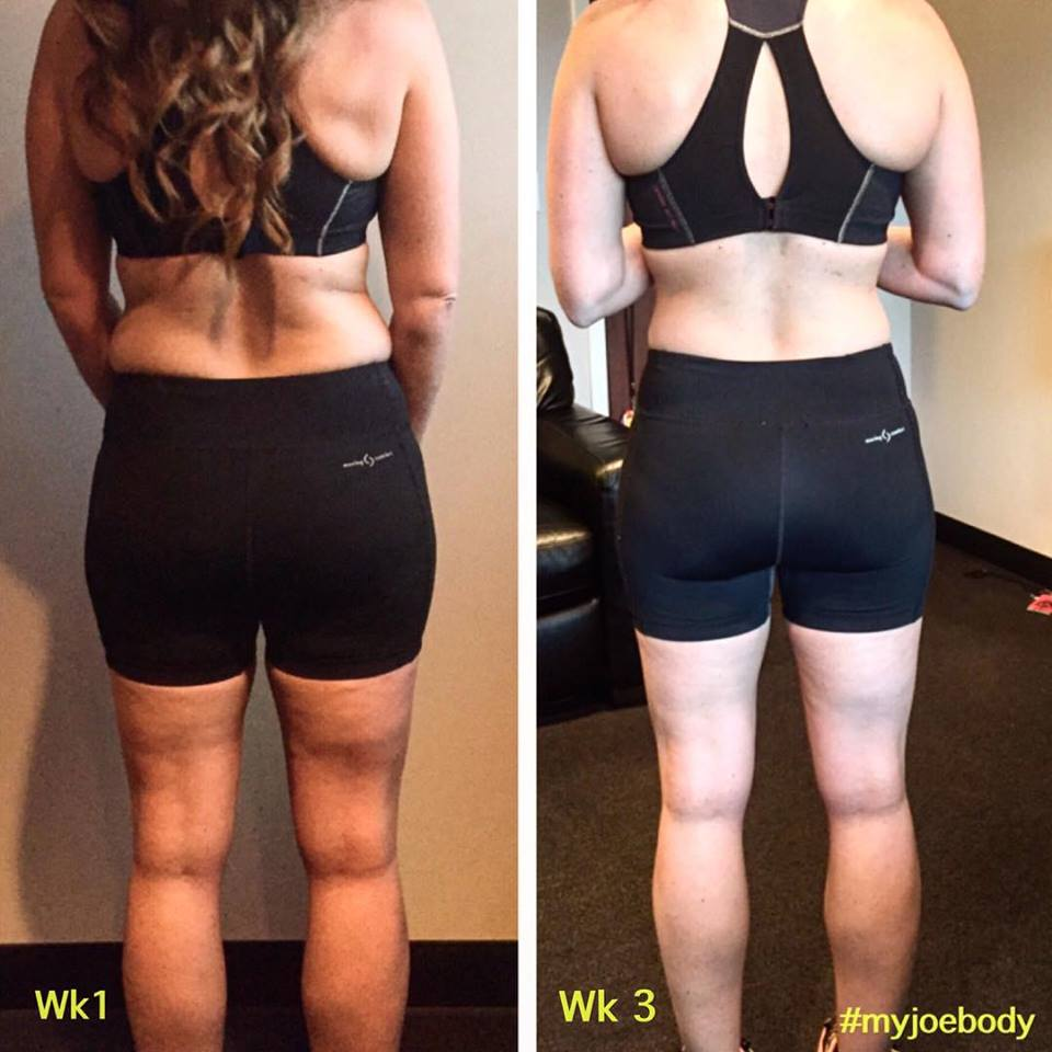 Hannah, at Week 1 and Week 3.