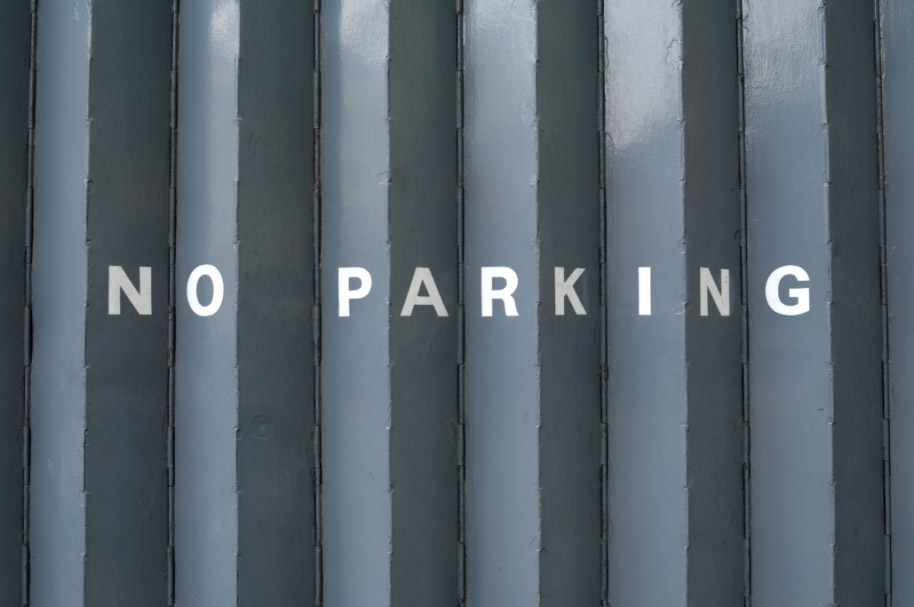 No Parking sign in London, seen from different angles
