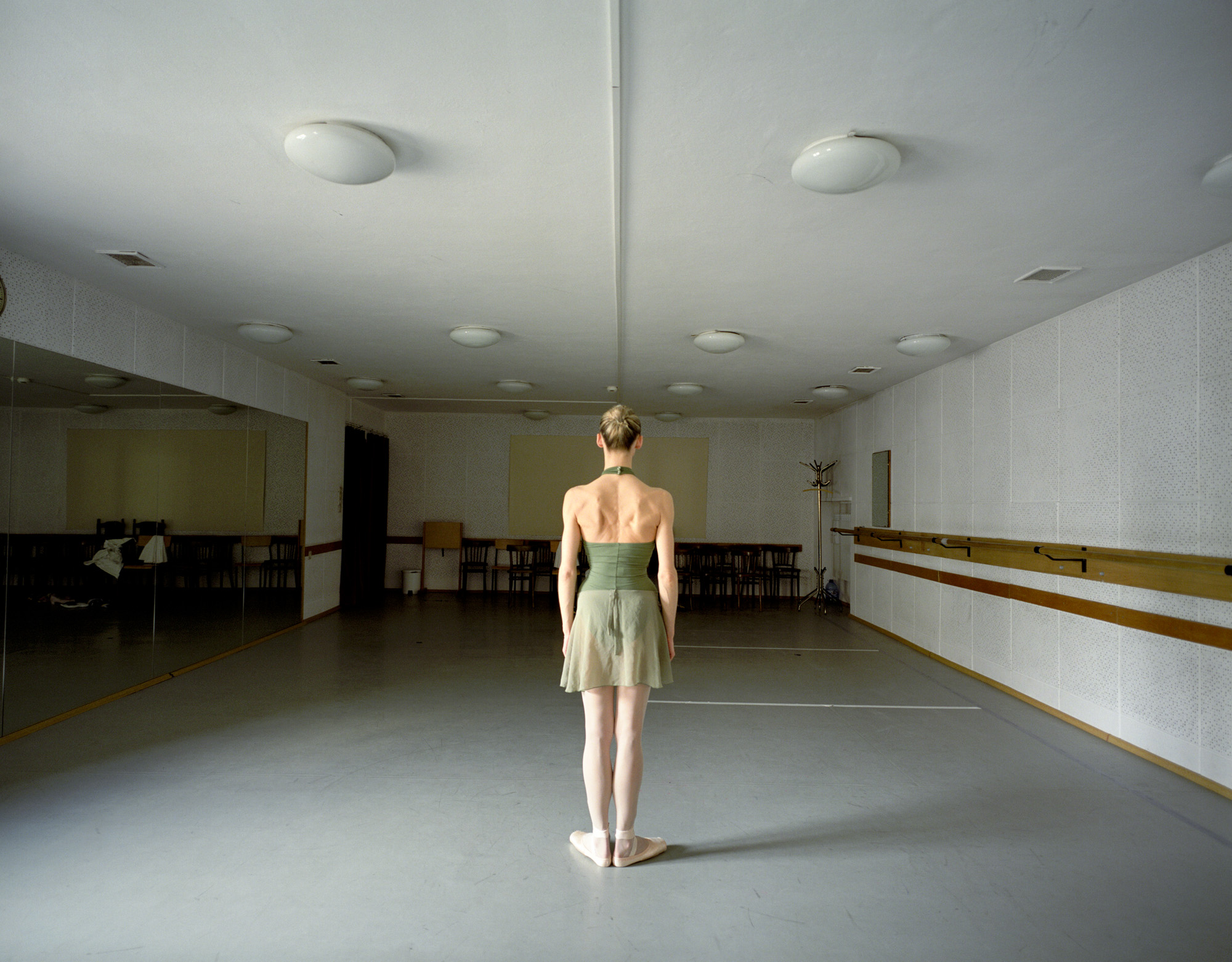 Malgorzata Aftowicz, a Coryphee at the Polish National Ballet, in one of the smaller practise rooms in the Grand Theatre.