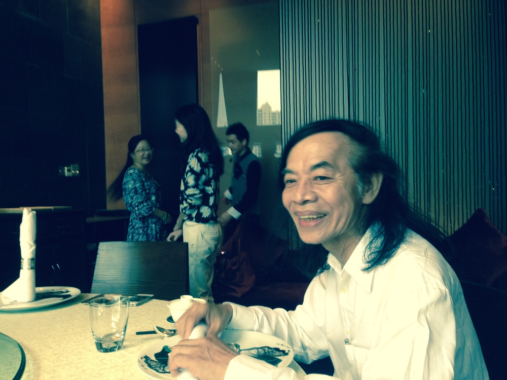 Judges lunch at the the elegant Langham Hotel with Mr. Tsai here. Disney Shanghai office executive Nikkey Wang Senior Marketing Manager, Franchise Management Greater China in the blue pattern dress in the back.