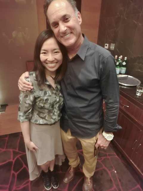 The awesome Disney exec who set the events up for the day, Bonny Zhu, loved her.