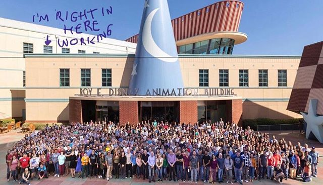 Be the first to spot me in this group pic? #disney #mikegabrielart