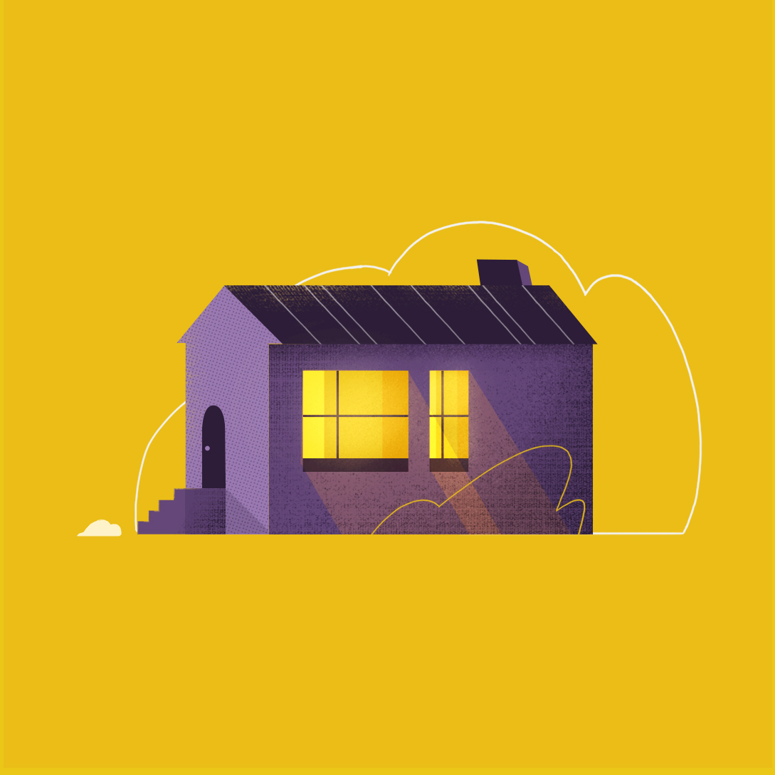 Isolated house, style test by Sarah Beth