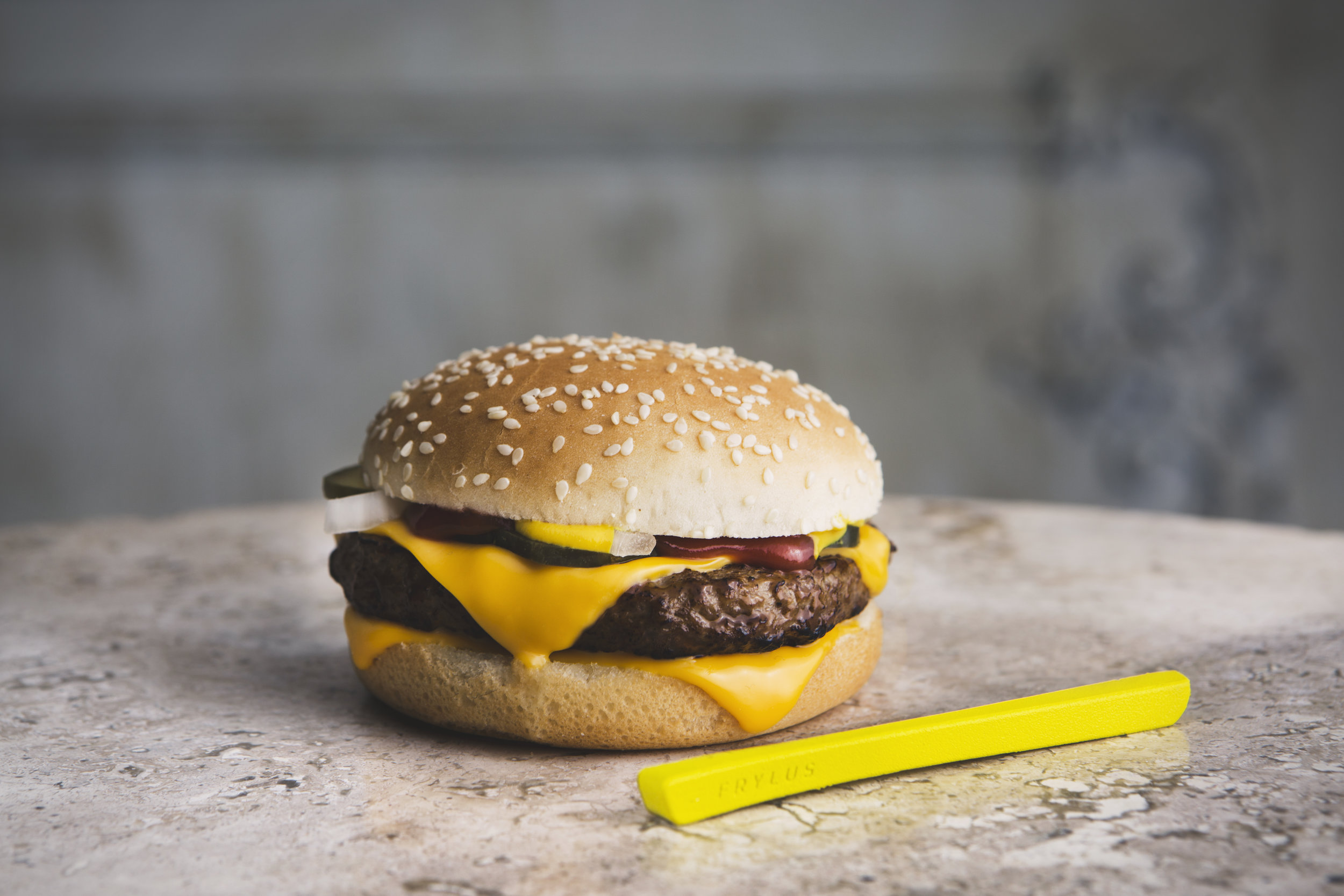 Frylus and Quarter Pounder - We captured product photography that was inline with the look and feel of the film.