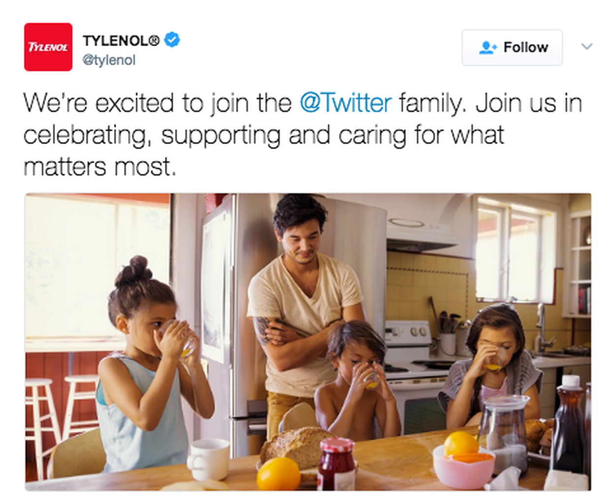 We didn't just talk to moms, we talked to families. - After our launch on Mother's Day, we launched the brand on Twitter. We started to talking to all families of all kinds.