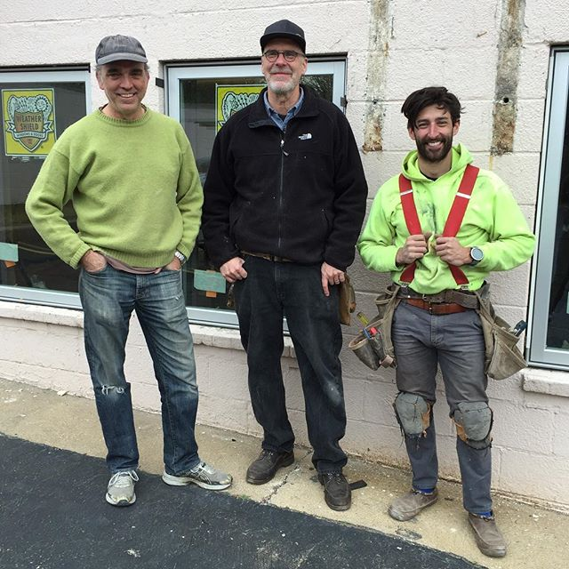 Teamwork makes the dream work! . Remembering fondly our effort just over two years ago renovating what was to be the new @msarchkc office. This was window install day with @dougment and @markmchank , the two architects that would eventually be working out of this office. Such a satisfying day! . . . #architectsthatbuild #architects #windowinstall #weathershieldwindows #weathershield #waldo #kcmo #missouri