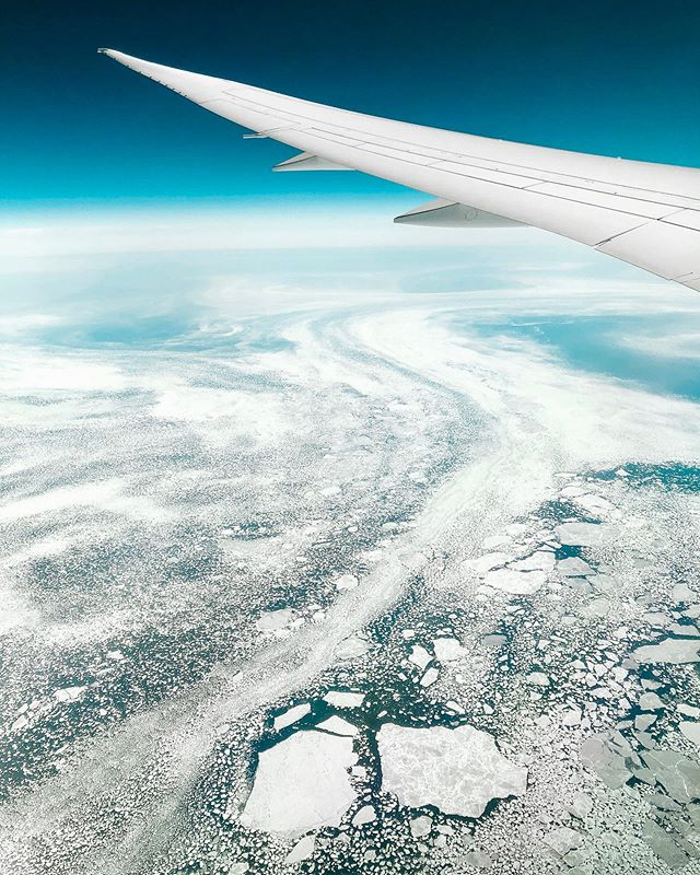 Greenland lost over 2 billion tons of ice on a single day last Thursday. It was ominous to see it with my own eyes, as we flew across the thin fragile shell of ice. We gotta smarten up people. • • • • • • • #beautiful_world#beautifulworld#exploretheglobe#globe_travel#keepexploring#letsgosomewhere#natgeotravel#roamtheplanet#travel#travel_captures#traveladdict#travelblogger#travelbug#traveldeeper#travelguide#travelholic#traveller#travellers#travelling#travelphoto#lonelyplanet#travelworld#travlegram #icemelting #greenland #ice #westjet #environment #globalwarming #climatechange