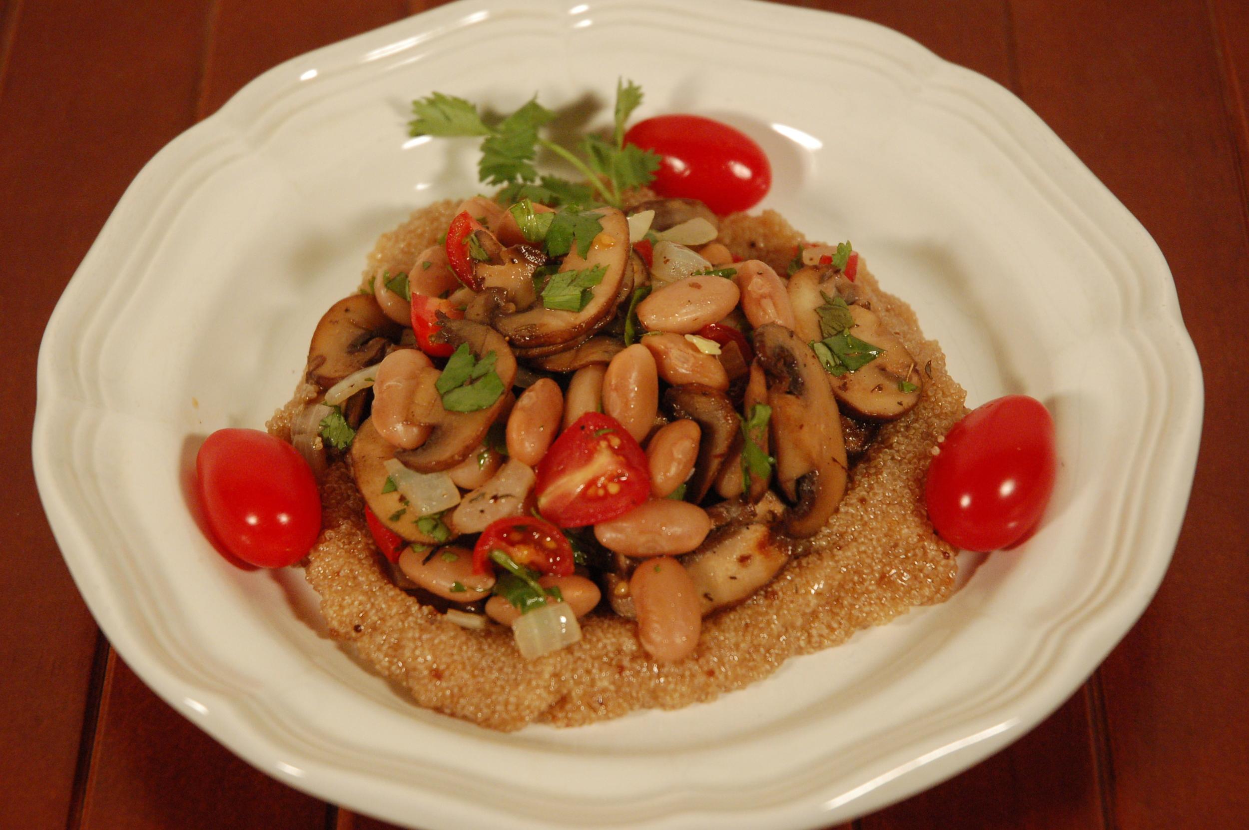 Amaranth & Mushrooms-Bean salad.JPG