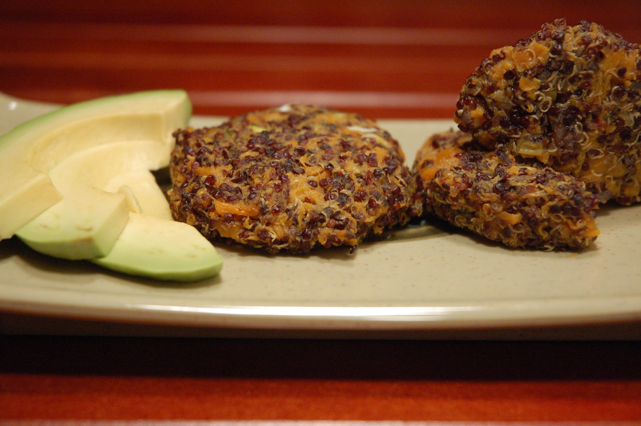 Vegan Quinoa-Sweet Potato Cakes