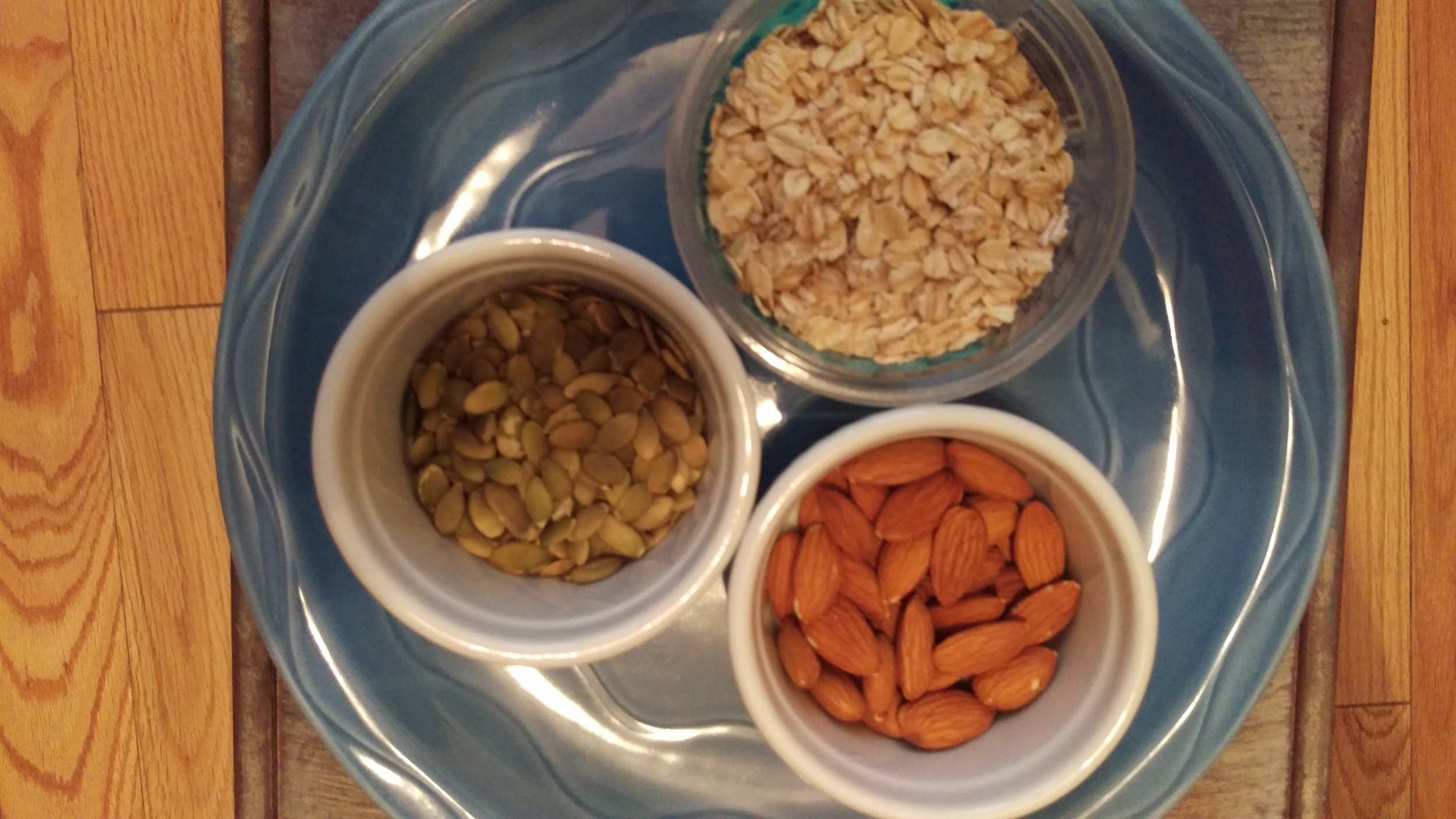 Almonds, Pumpkin seeds, and Oatmeal