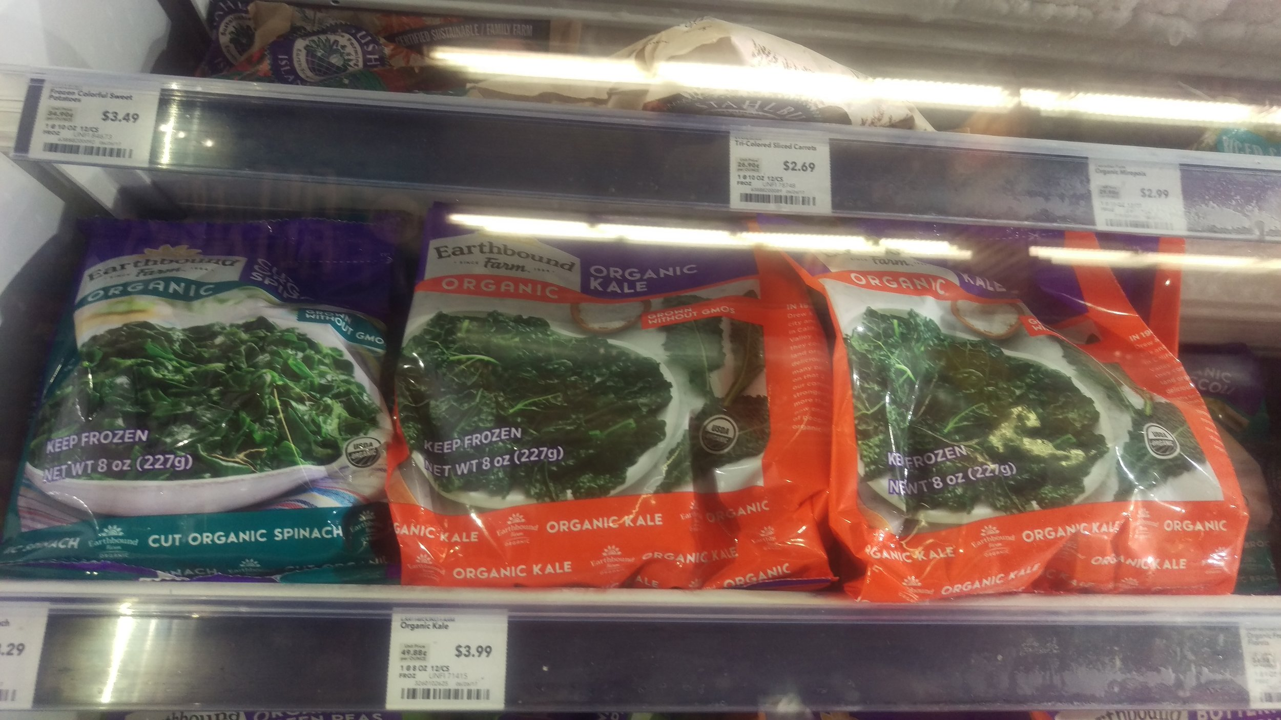 Frozen spinach is a great option to fresh spinach, often with higher nutrient value.